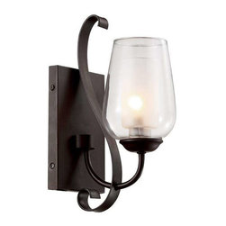 Trans Globe Lighting - Trans Globe Lighting 70381 ROB Wall Sconce In Rubbed Oil Bronze - Part Number: 70381 ROB