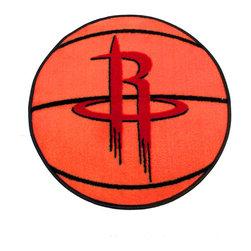 Fanmats - NBA Houston Rockets Rug Basketball Shaped Mat - FEATURES:
