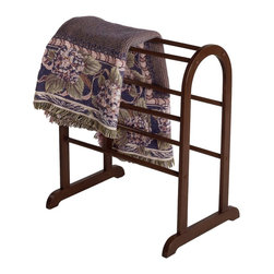 Winsome Wood - Winsome Wood Quilt Rack with Antique Walnut Finish X-62349 - With six rungs, this charming quilt rack has room to neatly display all of the quilts and blankets currently cluttering your living room. Free standing, the convenient and discrete organizer can be positioned anywhere in the room.