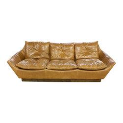 Who Knew Private Label - Retro Leather Sofa - '50s Danish style retro sofa in leather