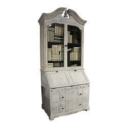 NOIR - NOIR Furniture - Odeon Hutch in White Weathered - Odeon Collection Hutch