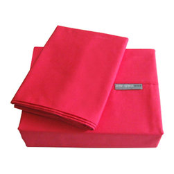 """Jenny George Designs - Jenny George 200 Thread Count Solid Color Bright Sheet Set Fuchsia Cal King - Brights Sheet Set Color Fuchsia Cal King Size 200 Thread Count. Set Includes 1 Flat Sheet, 1 Fitted Sheet, 2 Pillow Cases. Flat Sheet Dimensions: 112"""" x 102"""". Fitted Sheet Dimensions:72"""" x 80"""" x 12"""". Pillowcase Dimensions: 20"""" x 40"""". 60% Cotton/40% Polyester. MachineWash."""