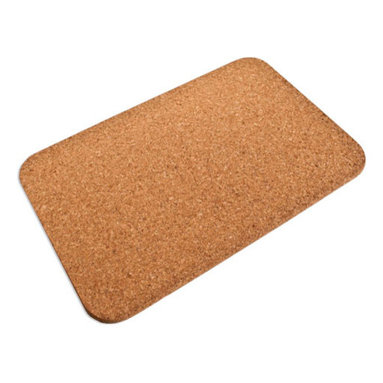 The Felt Store - Cork Bath Mat (600 X 450 X 17mm) - The Felt Store's Cork Bath Mat is a naturally stylish alternative for your bathroom! This eco-friendly product is made of 100% cork, which is a highly renewable resource. The Cork Bath mat is moisture resistant which prevents a build up of mould or mildew on the cork itself. It provides a non-slip surface to step onto and the natural cork colour fits in with any decor. This product can be wiped clean with a damp cloth. This Cork Bath Mat is approximately 23.62 inches long, 17.72 inches wide and 0.67 inches thick in dimension.