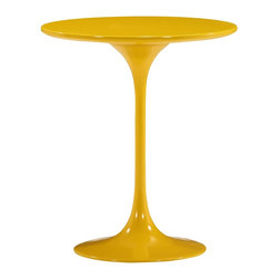 Zuo Modern - Wilco Side Table Yellow - Timeless and classic, the Wilco side table will add contemporary flare to any room. The top is glossy painted MDF and the base is glossy coated fiberglass.