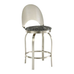 "Trica - Trica's Champagne Swivel Bar Stool, 30"" Seat Height - A toast to decadent design! This elegant, modern swivel stool is perfect for any modern kitchen or home bar."