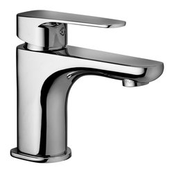 WS Bath Collections - Sly Single Lever Bathroom Faucet - Sly by WS Bath Collections, Single Lever Bathroom Faucet, in Polished Chrome Finish,  Solid Brass Base, Without Pop-up Waste Single Lever Controls Flow Rate and Temperature, Made in Italy