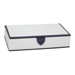 Reed & Barton Pyramid Earring Box - 8.75W x 2H in. - A modern mix of fashion and function, the Pyramid Earring Box from Reed & Barton can me stored anywhere. This small earring box features compartments for your earring storage needs. This plush ivory faux leather case is smartly accented with a deep black purple trim and lined with protective velvet. Combined with the other Pyramid Jewelry Cases, it can create a striking tower or can be kept hidden. Features a magnetic snap closure. About Reed & Barton/Eureka Mfg.Founded in 1824, Reed & Barton enjoys a reputation as one of the country's foremost marketers of fine tableware and giftware. Recognized for design excellence and the highest quality workmanship, Reed & Barton offers an array of exceptional products that satisfy a broad range of tastes. Today the Reed & Barton name graces fine flatware, dinnerware, crystal, giftware, and picture frames, as well as a wide variety of expertly made, handcrafted flatware and jewelry chests. For more than 183 years, Reed and Barton products have been the choice of those with discriminating taste. Their unwavering commitment to quality and customer satisfaction can be found in every product that bears the Reed & Barton name.