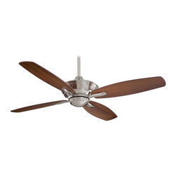 "Minka Aire - Minka Aire F513-BN New Era Brushed Nickel 52"" Ceiling Fan + Remote Control - Features:"