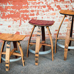 "Bar Stools & Chairs - The Mini, Mother's L'il Helper and America's New Stool. 18"", 25"", 30""."