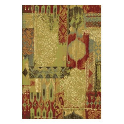 """Dynamic - Heritage 2"""" x 3'7"""" Rectangle Contemporary - Heritage 89359-2272-Green 2x3.7"""