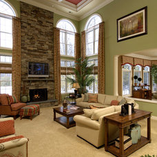Traditional Family Room by House Candy