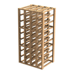 EcoWineracks 4 Column Upper Individual Bottle Rack, Golden Color, Clear Acrylic - EcoWineracks are the worlds only traditional style wine racks made from non-forested and sustainable bamboo. Bamboo is superior to wood in strength and durability, is non-warping and has consistent grain.