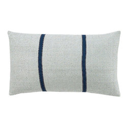 Jiti - Pieces Powder Blue Pillow - Add a soft touch to your home decor with our Pieces Powder Blue Pillow. Perfect for any Room! This pillow is made of 100% Silk with 95% Feather and 5% down. Invisible zipper closure. Dry Clean Only