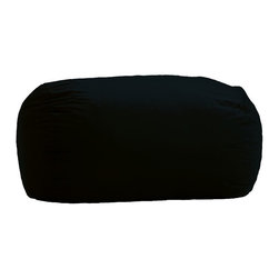 Comfort Research - Comfort Research 6 Foot Media Lounger, Black - Need a place to lounge while watching TV, playing video games or listening to music? The Media Lounger is the perfect size for stretching out or enjoying company. Filled with our super soft, long lasting Fuf foam, it will be your favorite spot in the house. Re-Fuf again and again for custom comfort. Spot clean.
