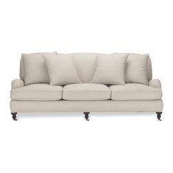 Bedford Sofa - A 3-seater roll arm sofa with a flat back is getting closer to what I need, but I think I want two cushions.