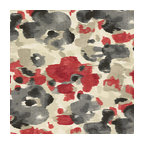 Red & Gray Dappled Watercolor Fabric - Abstract watercolor pattern dappled with bold, modern tones of crimson red, charcoal gray & cool beige.Recover your chair. Upholster a wall. Create a framed piece of art. Sew your own home accent. Whatever your decorating project, Loom's gorgeous, designer fabrics by the yard are up to the challenge!