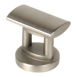 Century Hardware - Monarch Knob - Zinc Die Cast knob Dull Satin Nickel, 1 1/16 inches projection. 1 1/4 inches overall