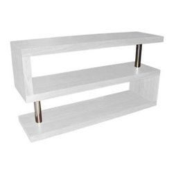 S Shelf - Shaped like the letter S, this shelving unit lends your space an airy feel. Its unique design creates an organized look for even the most mismatched items. Ideal wherever you need to declutter.