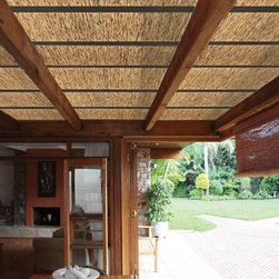 Natural Thatch - After - Thatch Reed Ceiling Panel