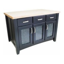 Lyn Design - Lyn Design Contemporary 52 1/2 X 35 1/2 Black Kitchen Island - Lyn Design Contemporary 52 1/2 X 35 1/2 Black Kitchen Island