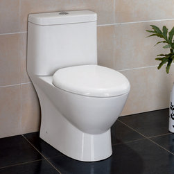 "Atlas International Inc - Dual Flush Toilet - Ariel Platinum Contemporary European ""Adriana"" - Modern Eco-Friendly One Piece White toilet. Ariel cutting-edge designed one-piece toilets with powerful flushing system. It's a beautiful, modern toilet for your contemporary bathroom remodel."