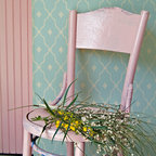 Wonderment Trellis Stencil - A delightfully unique allover trellis stencil pattern, the  Wonderment Trellis Stencil from the Bonnie Christine Stencil Collection at Royal Design Studio is offered in two sizes. Use the large size trellis pattern for wall and floor stencil projects. The small-scale Wonderment Trellis Stencil is perfect for smaller wall spaces, furniture and fabric DIY and craft stencil projects.