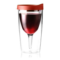 Adnart - Vino 2 Go Black, Red - Double wall insulated wine tumbler