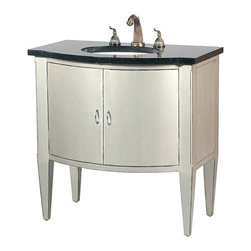 """Ambella Home Collection - Ambella Home Collection - Sterling Bowfront Sink Chest - 08939-110-202 - For any questions please call 800-970-5889.Ambella Home Collection - Sterling Bowfront Sink Chest - 08939-110-202 �Features:Sterling Collection�Sink Chest �Crafted from hardwood and finished in a rubbed silverThis sink chest features two doors and a black granite topBalsa porcelain sink installedTraditional StyleSome Assembly Required �Dimensions:�W:36"""" x D:23"""" x H:36"""""""
