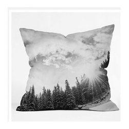 """DENY Designs - Bird Wanna Whistle White Mountain Throw Pillow - Wanna transform a serious room into a fun, inviting space? Looking to complete a room full of solids with a unique print? Need to add a pop of color to your dull, lackluster space? Accomplish all of the above with one simple, yet powerful home accessory we like to call the DENY Throw Pillow! Features: -Bird Wanna Whistle collection. -Material: Woven polyester. -Top and back color: Print. -Sealed closure. -Spot treatment with mild detergent. -Made in the USA. -Closure: Concealed zipper with bun insert. -Small dimensions: 16"""" H x 16"""" W x 4"""" D, 3 lbs. -Medium dimensions: 18"""" H x 18"""" W x 5"""" D, 3 lbs. -Large dimensions: 20"""" H x 20"""" W x 6"""" D, 4 lbs."""
