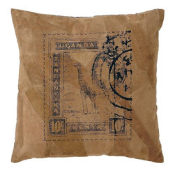 Benzara - Decorative Beautiful Real Leather Pillow with Post Stamp Print - Reinvent your indoors with this specially crafted real leather pillow that can enhance the overall appeal of your room. It is stuffed with softest cotton to provide you with premium comfort. You can make an effective effort to transform your living room or bedroom with a simple incorporation of this exquisite leather pillow. It can be used on beds or simply be used on the couch to enhance the comfort levels of your furniture. This beautiful leather pillow is crafted by expert craftsmen that have skillfully used the original leather texture with fine stitching method to give it a distinct appearance which separates it from the others. The post stamp print on the front surface is certainly the highlighting features of this pillow. The light tan wash looks natural owing to its leather pattern and tough stitch..