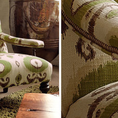 eclectic armchairs by Arhaus