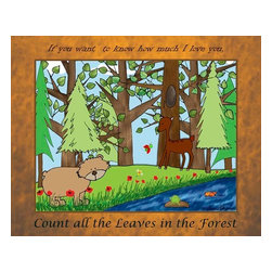 Oh How Cute Kids by Serena Bowman - Count all the Leaves in the Forest, Ready To Hang Canvas Kid's Wall Decor, 16 X - Every kid is unique and special in their own way so why shouldn't their wall decor be so as well! With our extensive selection of canvas wall art for kids, from princesses to spaceships and cowboys to travel girls, we'll help you find that perfect piece for your special one.  Or fill the entire room with our imaginative art, every canvas is part of a coordinating series, an easy way to provide a complete and unified look for any room.