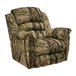 Catnapper High Roller AP Green Realtree Camouflage Chaise Rocker Recliner - AP G