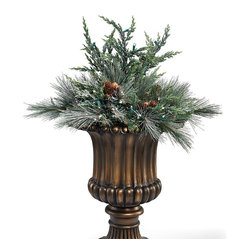 Frosted Pine Cordless Urn Filler - Frontgate Christmas Decor