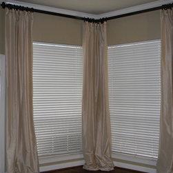 window treatments - Dupioni Silk floor to ceiling panels