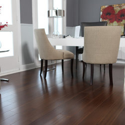 Tarakan Teak - This is a teak engineered floor. It's a good way to get the look of teak if you're planning a basement or if you're home's built on a slab.