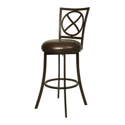 "Pastel - Zelenia Swivel Barstool ZL-222 - 30"" - The Zelenia Barstool has a simple yet elegant design that is perfect for any decor. An ideal way to add a classic flair to any dining or entertaining area in your home. This swivel barstool features a quality metal frame with sturdy legs and foot rest finished in Dark Mocha. The padded seat is upholstered in Ford Taupe offering comfort and style. (Available in 26"" counter or 30"" bar height.)"