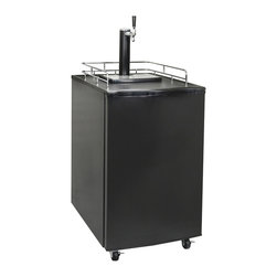 Newair Appliances - Newair Appliances Black Single Tap Beer Kegerator - This beer kegerator from Newair Appliances will keep your full sized or pony kegs cold and dispense it with ease. Temperature control makes it easy to use and to enjoy beer the way you prefer.