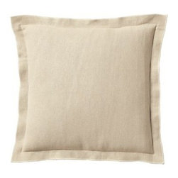 Serena & Lily - Chatham Pillow Cover Bone - Toss it, fling it, mix and match it this is a pillow that instantly relaxes the room. The washed linen is soft and just slouchy enough to keep things comfy and casual. Contrasting white stitching along the edges brings a nice design element.