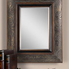 Bovara - This ornate frame features a rustic bronze finish
