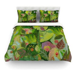 """Kess InHouse - Marianna Tankelevich """"Jungle"""" Cotton Duvet Cover (Twin, 68"""" x 88"""") - Rest in comfort among this artistically inclined cotton blend duvet cover. This duvet cover is as light as a feather! You will be sure to be the envy of all of your guests with this aesthetically pleasing duvet. We highly recommend washing this as many times as you like as this material will not fade or lose comfort. Cotton blended, this duvet cover is not only beautiful and artistic but can be used year round with a duvet insert! Add our cotton shams to make your bed complete and looking stylish and artistic! Pillowcases not included."""