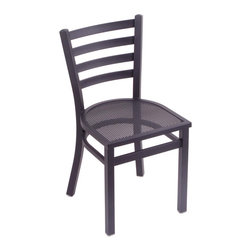 "Holland Bar Stool - Holland Bar Stool Outdoor 400 Jackie 18"" Chair w/ Black Wrinkle Finish - Jackie 18"" Chair w/ Black Wrinkle Finish belongs to Outdoor 400 Collection by Holland Bar Stool Perfect for your deck or patio, Holland Bar Stool's indoor/outdoor Jackie chair provides a commercial quality product for your home or restaurant.� The heavy duty steel frame is solid welded and finished with an E-coating process that coats both the inside and outside of the stool evenly with a baked on, ultra-durable, UV resistant, epoxy based finish.� The sturdy mesh seat allows water to drain straight through, preventing puddling like on other seats.� BIFMA tested at 500 lbs., these chairs are built to last a lifetime."