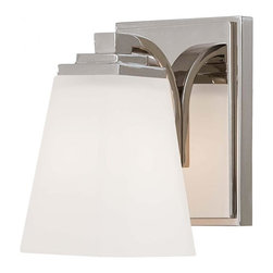 Minka-Lavery - Minka-Lavery Transitional Bath Art 1-Light Bath - 4541-613 - This 1-Light bathroom sconce has a nickel finish.