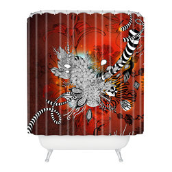 DENY Designs - Iveta Abolina Wild Lilly Shower Curtain - Who says bathrooms can't be fun? To get the most bang for your buck, start with an artistic, inventive shower curtain. We've got endless options that will really make your bathroom pop. Heck, your guests may start spending a little extra time in there because of it!
