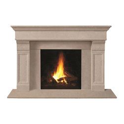 Omega Mantels & Mouldings Ltd - 1110.511 cast stone mantel, Taupe Open Cast - This unique design will help you achieve the look you desire.
