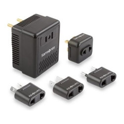 Samsonite - Samsonite Travel Converter/Adapter Kit - This travel converter/adapter kit is a must-have for trips overseas. It converts the wattage of US appliances to conform with foreign outlets.