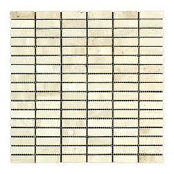 STONE TILE US - Stonetileus 10 pieces (10 Sq.ft) of Road White 5/8x2 Tumbled - Road - White - 5/8x2 - Tumbled Specifications: Coverage: 1 Sq.ft size:  - 1 Sq.ft/Sheet Sheet mount:Meshed back Stone tiles have natural variations therefore color may vary between tiles. This tile contains mixture of white - light brown - dark brown - yellow - and color movement expectation of high variation, The beauty of this natural stone Mosaic comes with the convenience of high quality and easy installation advantage. This tile has Tumbled surface, and this makes them ideal for walls, kitchen, bathroom, outdoor, Sheets are curved on all four sides, allowing them to fit together to produce a seamless surface area. Recommended use: Indoor - Outdoor - High traffic - Low traffic - Recommended areas: Road - White - 5/8x2 - Tumbled tile ideal for walls, kitchen, bathroom, Free shipping.. Set of 10 pieces, Covers 10 sq.ft.