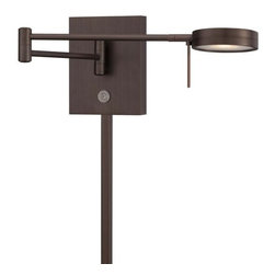 Kovacs - Kovacs P4308-647 LED Swing Arm Wall Sconce - Kovacs P4308-647 LED Swing Arm Wall SconceForm and function come together in this handsome LED swing arm wall sconce. Extend the 8 watt LED from 5 inches to 23.5 inches to cast light anywhere while the on/off dimmer makes controlling the light a breeze. The Copper Bronze Patina finish brings the whole package together to create the perfect swing arm wall sconce perfect for any decor.Kovacs P4308-647 Features: