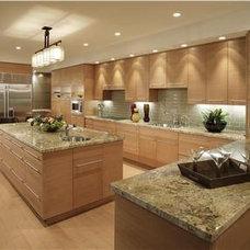 Elegant Contemporary Kitchen by Lisa Turner