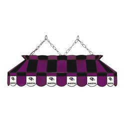 Imperial International - Baltimore Ravens NFL 40 - Glass Lamp - This 40-inch glass lamp is a great way to properly light your Pool Table while showing off your team spirit then. Real stained glass that matches your favorite teams colors. Looks great in any game room. Rack 'Em Up!